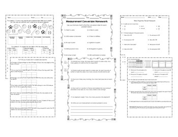 Ratio & Proportion Homework Bundle