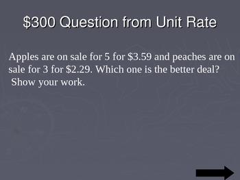 Ratio Proportion Jeopardy