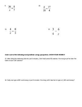 Ratio & Proportion Quiz