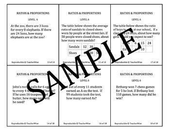Ratio & Proportion Task Cards Bundle: Real World Problem S