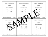 Ratio & Proportion Task Cards: Solve Proportions For the Variable Level 5