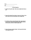 Ratio, Proportion, Unit rate word problems