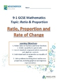 Ratio, Proportion and Rate of Change
