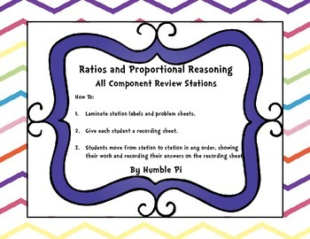 Ratio Proportional Reasoning- 6.RP.1.6.RP.2, 6.RP.3abcd