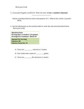Ratio Quiz