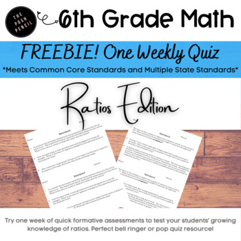 Ratio Quiz or Review
