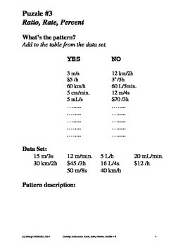 Ratio, Rate & Percent, Grades 4-6, Concept Attainment