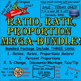 Ratio, Rate, Proportion, Percent, Change, Discount, Markup