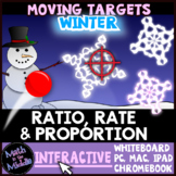 Ratio, Rate, & Proportion Winter Themed Moving Targets Interactive Review Game