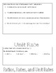 Ratio, Rate, Unit Rate, Solving and Writing Proportions Flip Book