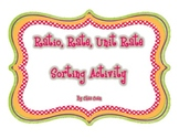 Ratio Rate Unit Rate Sorting Activity
