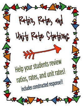 Editable Ratio, Rate & Unit Rate Stations