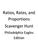 Ratio, Rate, and Proportion Scavenger Hunt - Eagles Edition