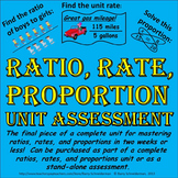 Ratio, Rate, and Proportion Unit Assessment