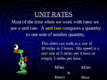 Ratio, Rate, and Unit Rate