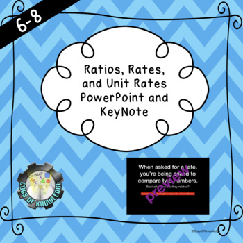 Ratio, Rates and Unit Rates Power Point