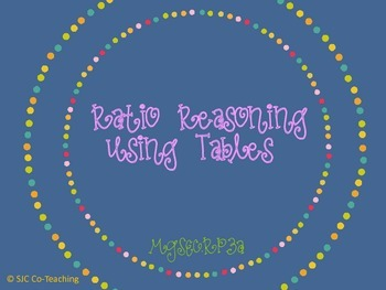 Ratio Reasoning with Tables