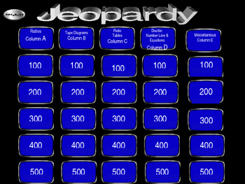 Ratio Review - Jeopardy 6.RP.3
