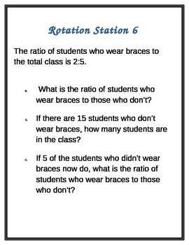 Ratio Rotation Stations for Groups