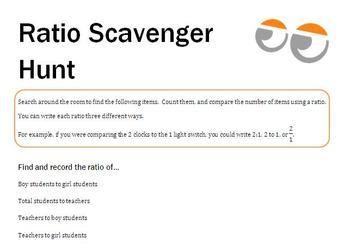 Ratio Scavenger Hunt
