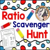 Ratio Scavenger Hunt Around the Classroom Ratios Game Activity Math Center