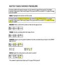 Ratio Table Word Problem Graphic Organizer