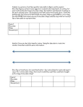 Ratio Table Word Problems