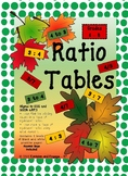 Ratio Tables Middle School