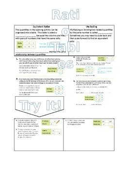 Ratio Tables