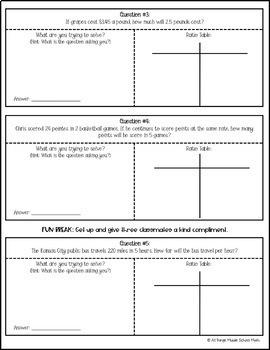 Ratio Tables (Activity)
