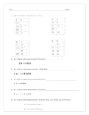 Ratio Tables, Charts, Word Problems, and Problem Solving Test