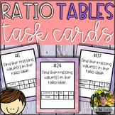 Ratio Tables Task Cards (40 Task Cards)