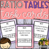 Ratio Tables Task Cards (40 Task Cards)