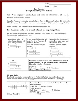 Ratio Tape Diagrams An Introduction