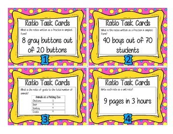 Ratio Task Cards