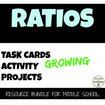 Ratio Activities, Word Problems, Projects Resource Bundle for 6th grade