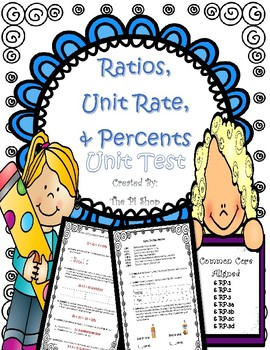 Ratio, Unit Rate, Percent {UNIT TEST} (NO PREP)