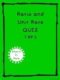 Ratio & Unit Rate Quiz (7.RP.1)