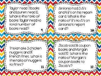 Ratio Word Problem Task Cards