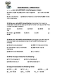 Ratio Worksheet - A quick activity to solidify learning.