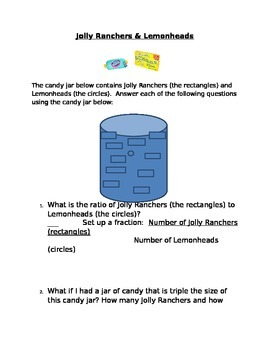 Ratio and Decimal Project: Jolly Ranchers and Lemonheads GUIDED