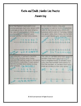 Ratio and Double Number Line Practice