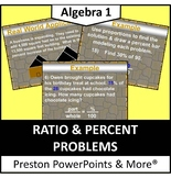 Ratio and Percent Problems in a PowerPoint Presentation