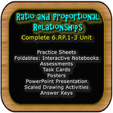 BUNDLE! Ratio and Proportional Relationships: Complete Packaged Unit: 6.RP.1-3