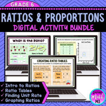 Ratios and Proportions Digital Activities {BUNDLE} for use with Google Slides™