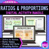 Ratios and Proportions Digital Activities {BUNDLE} for use