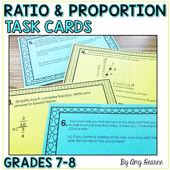 Ratio and Proportion Common Core Task Cards