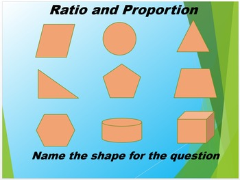 Ratio and Proportion PowerPoint Review with Geometry