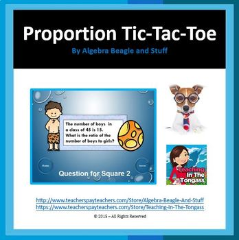 Ratio and Proportion Pre-Hisoric PowerPoint Tic-Tac-Toe Game