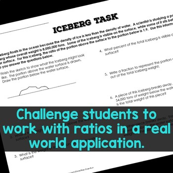 Ratios and Proportions Real World Task Worksheet